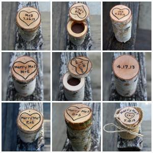 Ring Box Rustic Wood - Personalized..